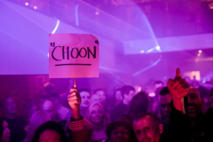 someone holding Choon sign