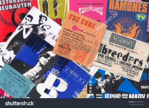 old gig tickets