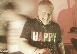 leo djing at happy with happy tshirt