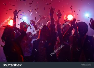 young people dancing in club