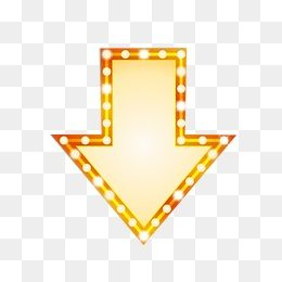 gold downward pointing arrow