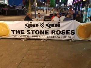 Stone Roses after show banner