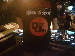 ACB dj tshirt with gio goi logo