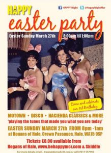 Flyer for Happy easter party