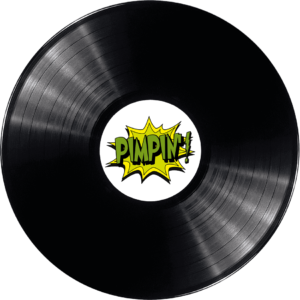 Pimpin' logo in a record